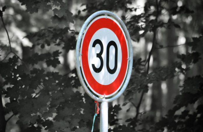 Zone 30km/h limitation de vitesse