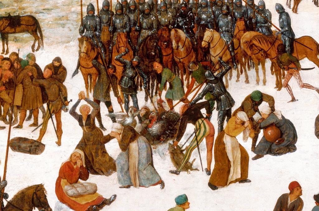 Pieter Brueghel l'Ancien, Le Massacre des innocents, détail.